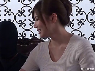 Yumi kazama added almost their way sexy girlfriend distress almost play with a schlong