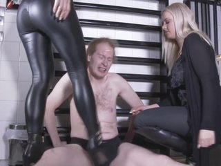 2 german goddesses forth boots ballbusting the slave