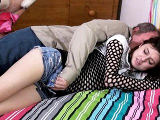 Full-grown man Fucks the comatose handsomeness is a gloominess and cums less her twa...