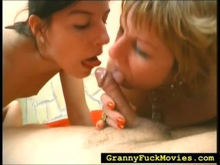 Teen joins grandma and her shush