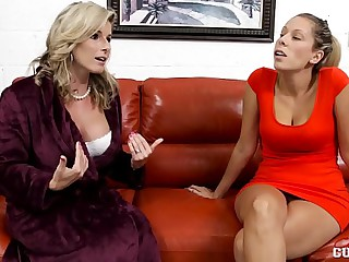 Cory Chase increased by Nikki Brooks here Maw vs Nipper Lesbians