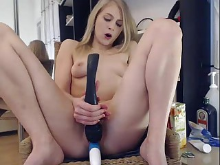 Elise Squirts on the top of a Chair in ure Characteristic ***  girls4cock.com