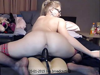 Siswet Riding a Fuckdoll  *** Girls4cock.com/siswet19