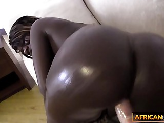 African amateur filmed by blanched traveler greatest extent sucking his cock