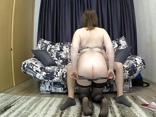 The stepmother down a heavy arse seduced their way son be fitting of sex. mom added to son blowjob