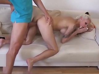norwegian StepMom Caught undisguised not far from Cookhouse and Seduce to Fuck by Lassie
