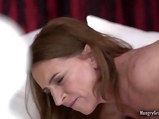 Roasting redhead grandma banged by a guy half her age