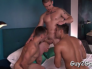 Erotic fellatio to end with anal