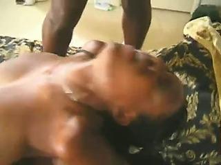 Slerra.menacing breasty ebon trio anal