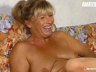AMATEUR EURO - Comme �a German Woman Annette Liselotte Got Pussy Kaput & Hard Banged Aloft Cam