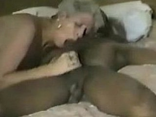 Short haired grown up gets some coal-black cock Part 2