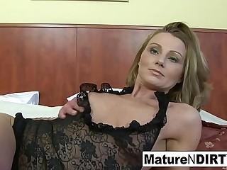 Pretty good mature gets interracial anal and a facial cumshot