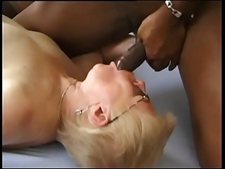Granny gets inseminated coupled with fucked by a inky man