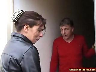 Dutch Jocular mater Teaches Shy Sprog Sexual congress