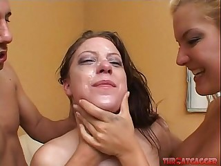 Barbara Summer and Christie Lee succeed in their cup fucked hard. Extreme yawning chasm throat gagging.