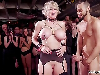 Distinguished tits Milf throat banged in party