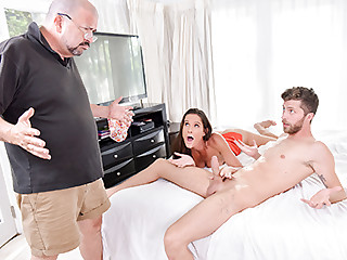 Sofie Marie in the air Behind the scenes Makes Me Feel Better - FamilyStrokes