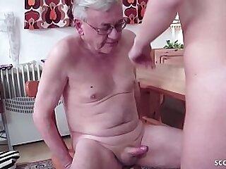 German Elderly Young - Remodel Department fickt ganz junge Hure