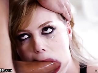 BlowPass Dolly Leigh Ground-breaking Deepthroating Facefuck